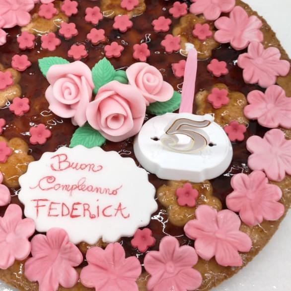 Torta compleanno decorata, senza glutine - Pasticceria Chicchisani Torino